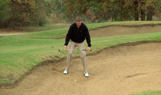 Downhill Bunker Shot