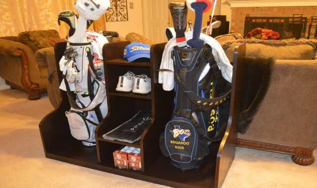 Your Golf Stuff Lying All Over The Place? Here's Your Solution And It's An Easy DIY!