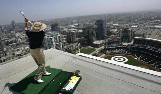 How Do You Play Golf In A Baseball Field? Let's See How Petco Will Do It!