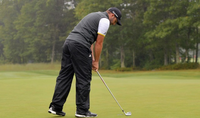 Frustrated Sergio Garcia Slams His Putter During Dell Championship