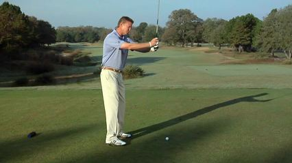 Maintain your width through the Backswing