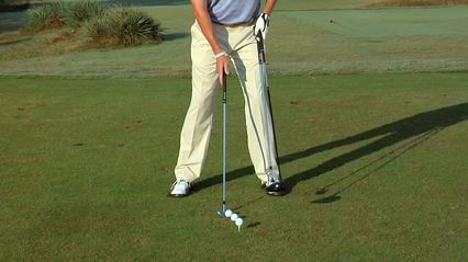 Three basic ball positions from the center of your stance