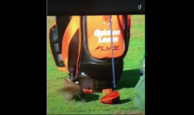 Guess Who Wanted Into Rick Fowler's Golf Bag! You'd Be Laughing Out Of Your Seat!