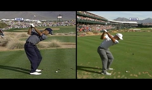 Comparing Tiger Woods' Swing From 1997 and 2015. The Difference Is Shocking!